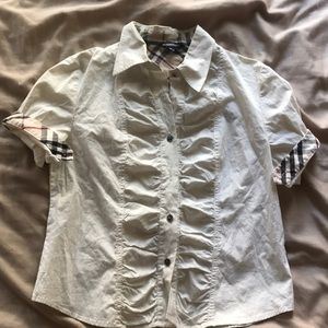 Burberry White Blouse